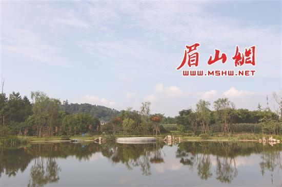 汉阳湖景区游客中心大气,雅观. 美丽青神.