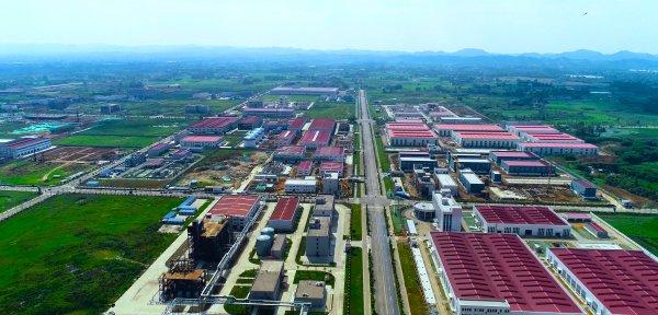 俯瞰四川彭山经济开发区。